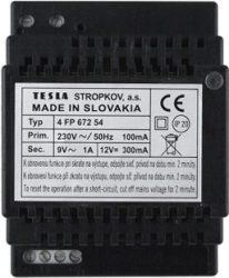 TESLA tápegység 1+n rendszerhez tápegység 12VAC/1,2A, vagy 9VAC/1,4A típusa: 4FP 672 61