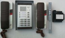 TT94 kétlakásos kaputelefon számkóddal, tápegységgel, mágnes-zárral